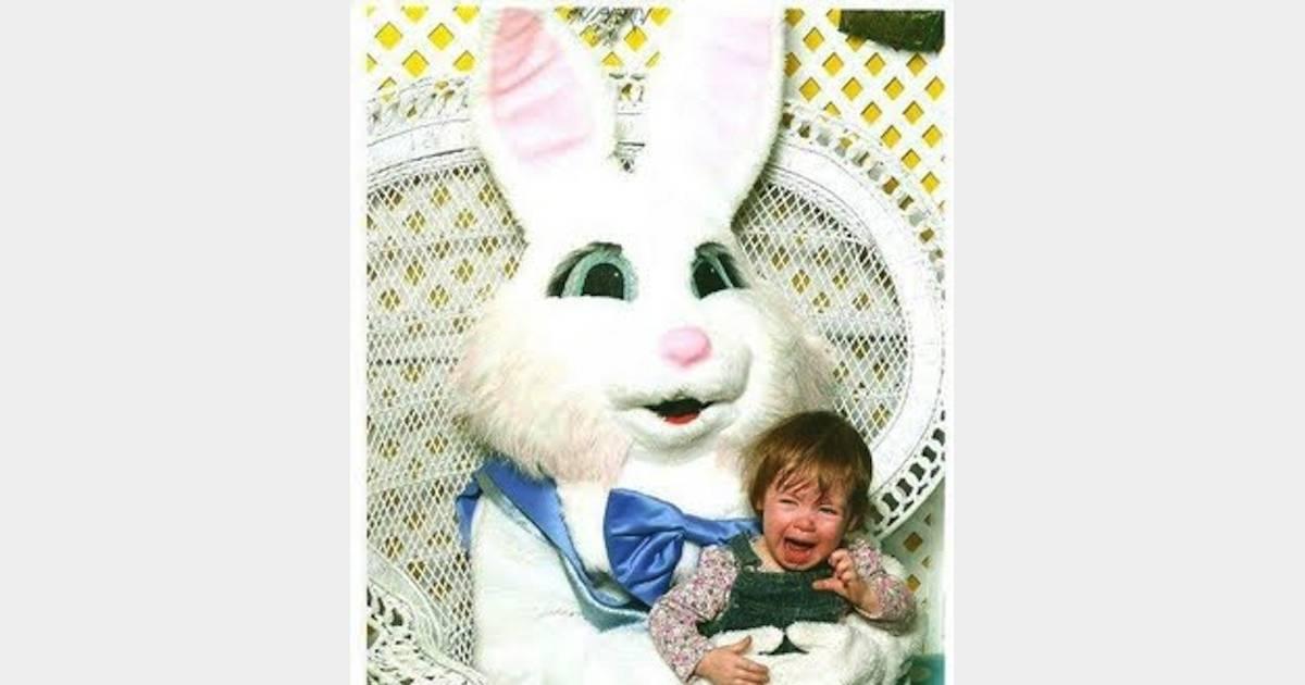 Ces photos flippantes qui prouvent que les lapins de p ques sont des cr atures mal fiques - 4 images 1 mot poussin lapin ...