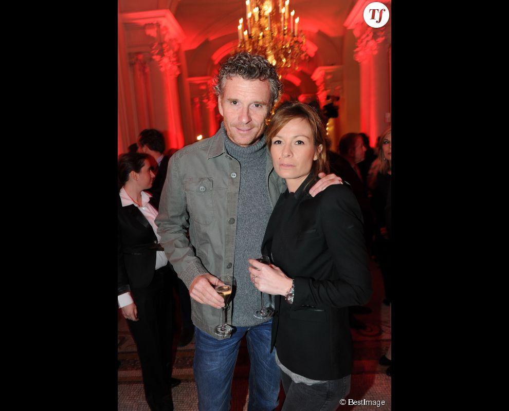 Denis Brogniart et sa femme Hortense - Archives - 25 ans du magazine TV Mag Paris, le 09/02/2012 Plaza Athenee