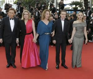 """L'équipe du film """"La Tête Haute"""" : Benoit Magimel, Catherine Deneuve, Emmanuelle Bercot, Rod Paradot et Sara Forestier"""