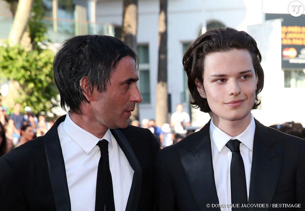 Samuel Benchetrit et son fils Jules au Festival de Cannes 2015.