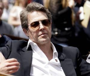 L'acteur Hugh Grant dans les tribunes de Roland Garros le 24 mai 2015