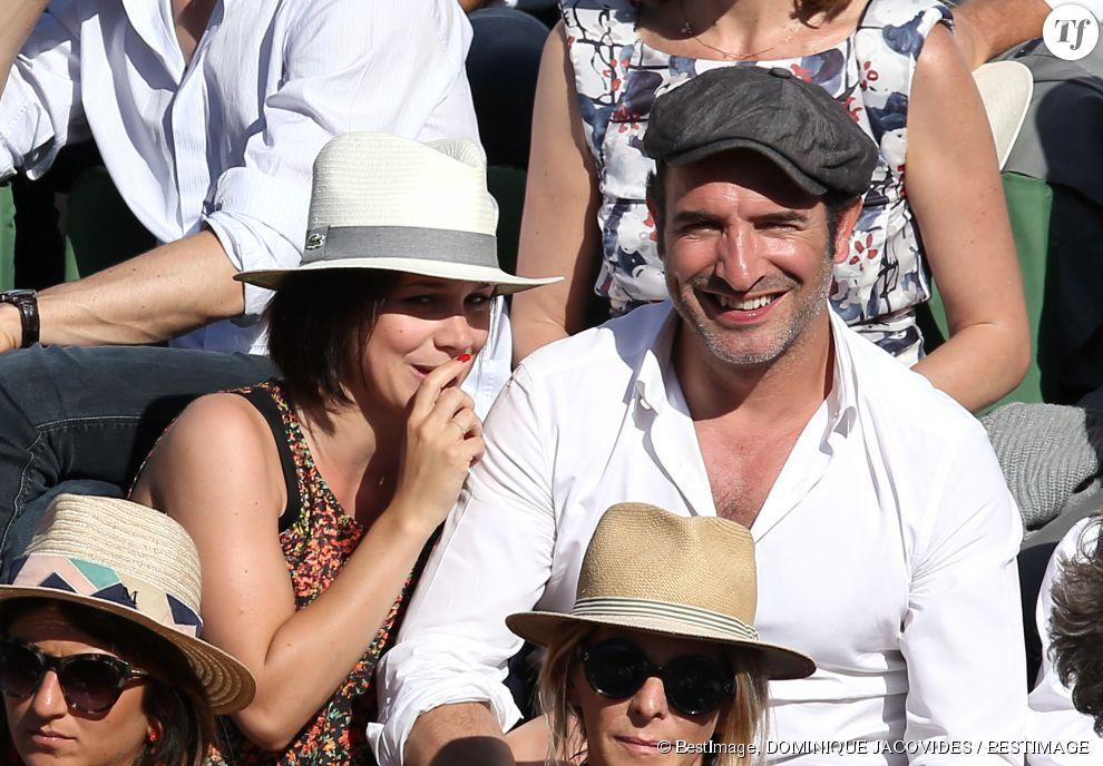 Jean dujardin et nathalie p chalat lors de la finale for Nathalie pechalat et jean dujardin