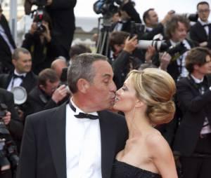 """Thierry Ardisson et sa compagne Audrey Crespo-Mara a la premiere du film """"Lawless"""" lors du 65eme festival de cannes le 19 mai 2012."""