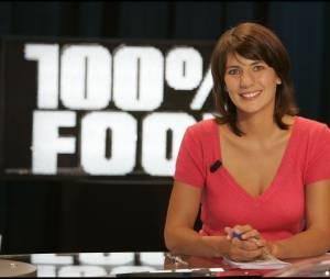 Estelle Denis animatrice de 100% Foot sur M6 en 2005