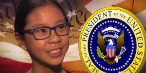 Cette petite Américaine de 10 ans veut changer la Constitution pour devenir présidente