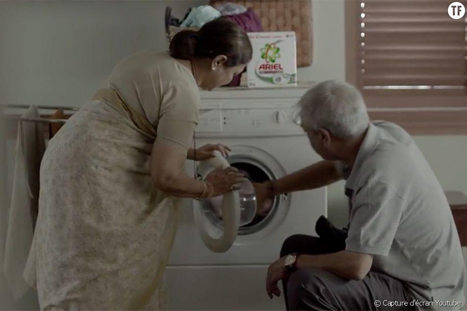 Dans cette nouvelle publicité Ariel, l'inégalité homme-femme au sein du foyer est pointée du doigt