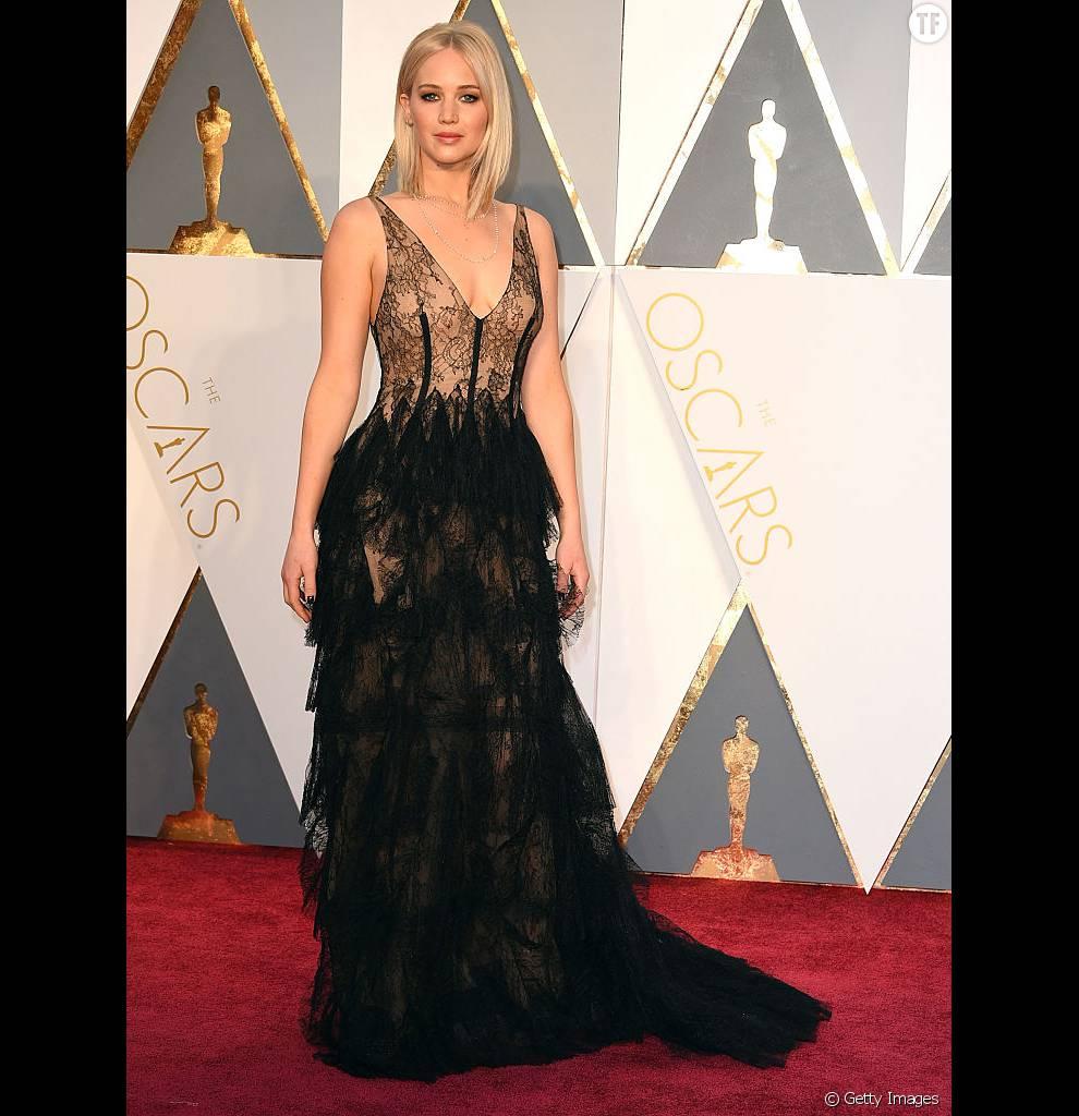 Jennifer Lawrence dans une création Dior Couture.