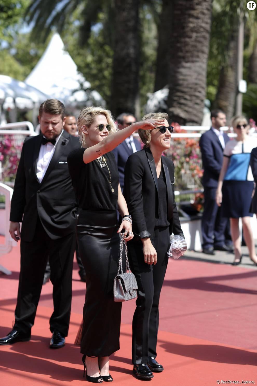 Kristen Stewart et sa compagne Alicia Cargile sur les marches du 69ème Festival de Cannes