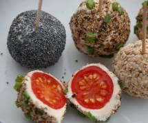 La recette facile des boulettes de tomates cerise et chèvre pour l'apéro