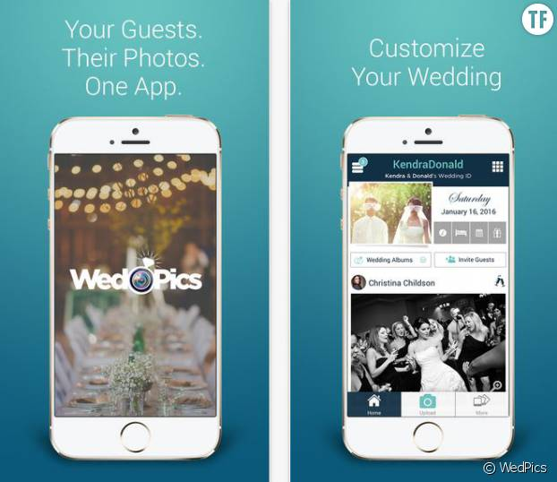 L'applique de partage de photos de mariage : WedPics