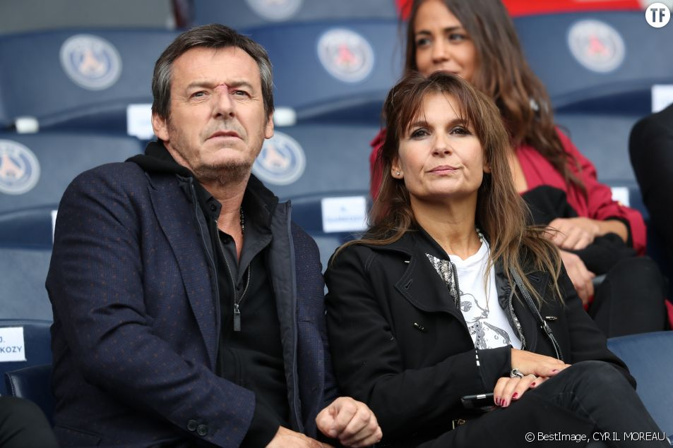 L'animateur Jean-Luc Reichmann et sa femme Nathalie Lecoultre