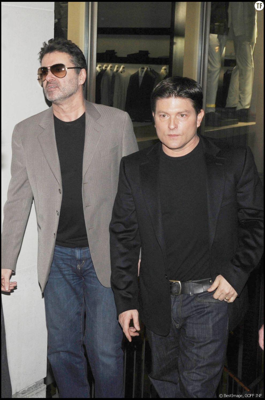 Kenny Goss et George Michael en 2008