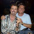 Le chanteur George Michael et son ex petit-ami Kenny Goss en 2002