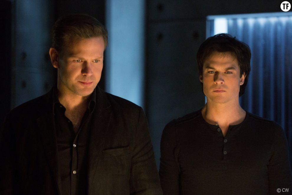 Alaric et Damon dans l'épisode 12 de la saison 8