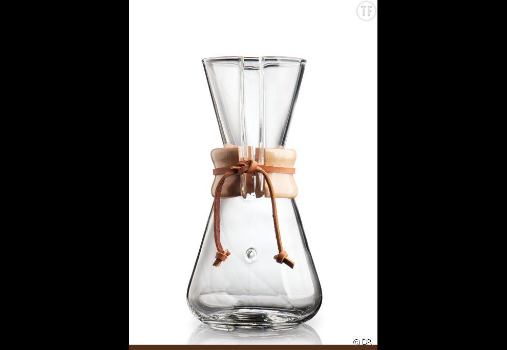 Cafetière en verre Chemex 3 tasses,  38,90 euros sur Maxicoffee