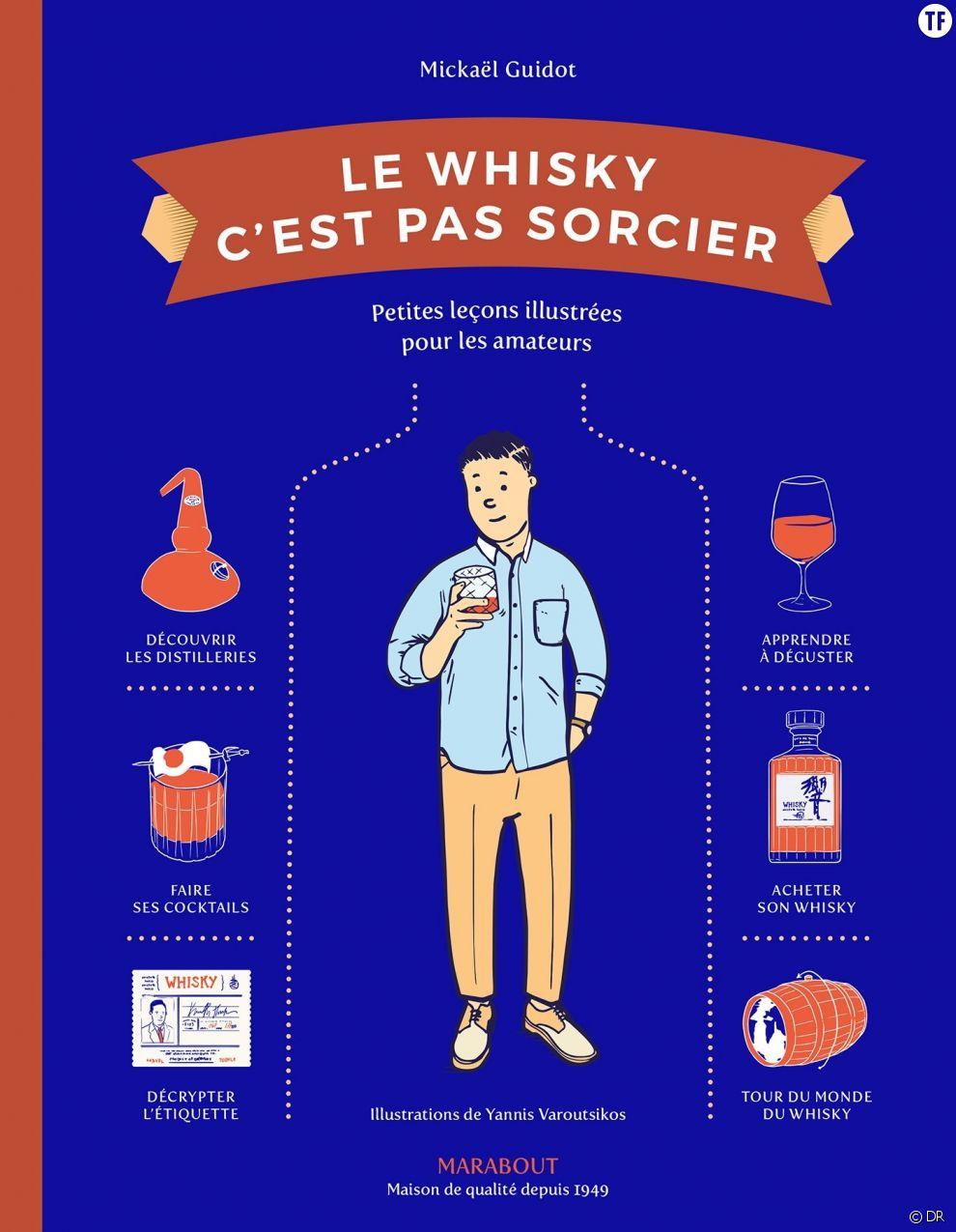 Le whisky c'est pas sorcier  de Michaël Guidot, Éd. Marabout,  19,90 euros sur Amazon