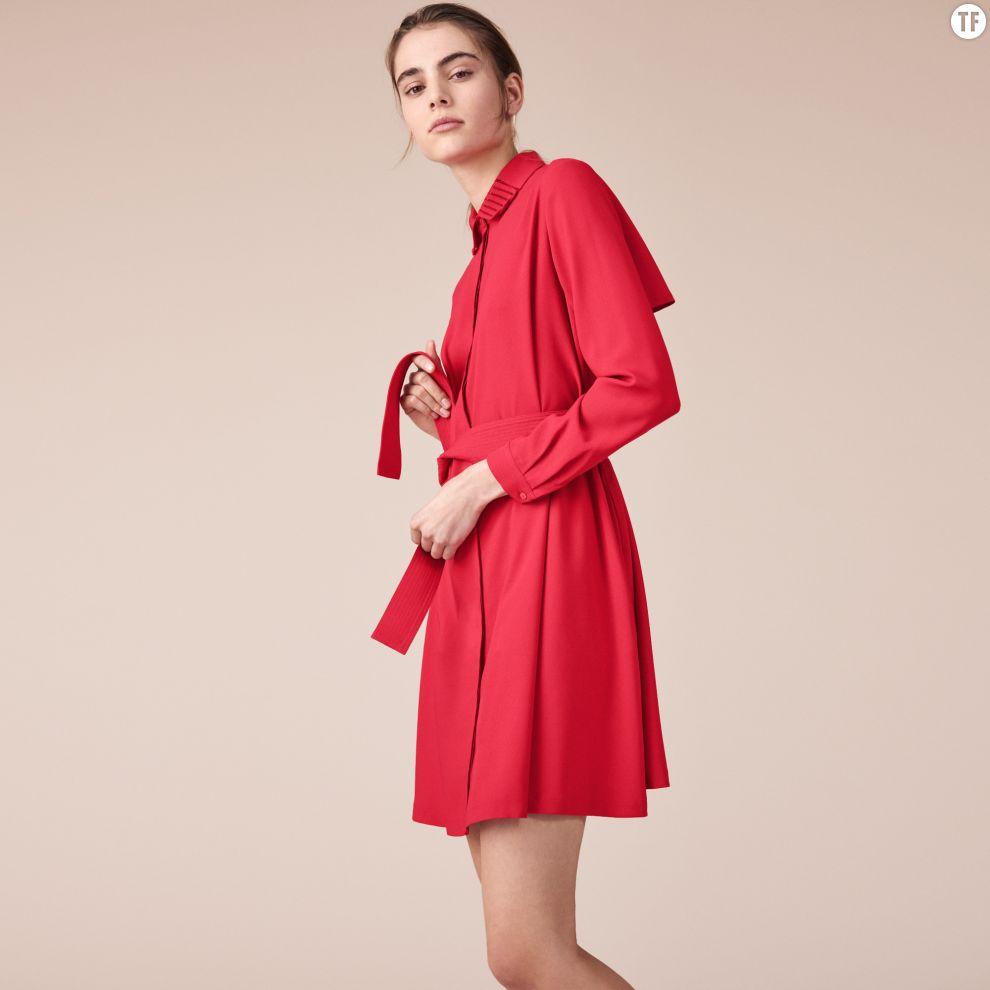 Robe chemise Maje, 195€