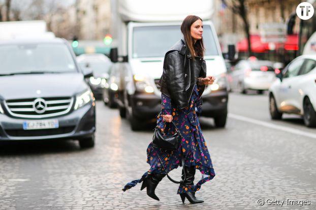 Street style Paris Fashion Week automne - hiver 2017/2018