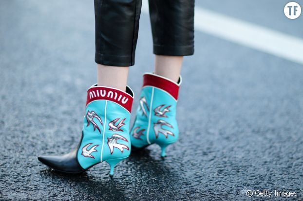 Bottines cone heels Miu Miu Paris Fashion Week automne - hiver 2017/2018