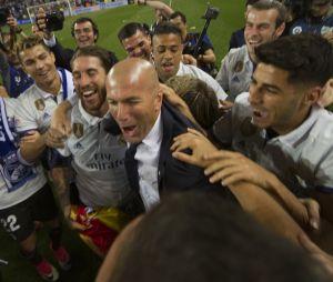 L'équipe du Real Madrid après son match contre Malaga le 21 mai 2017