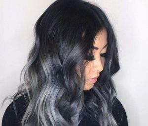 cheveux tie and dye noir et gris coiffures la mode de cette saison. Black Bedroom Furniture Sets. Home Design Ideas
