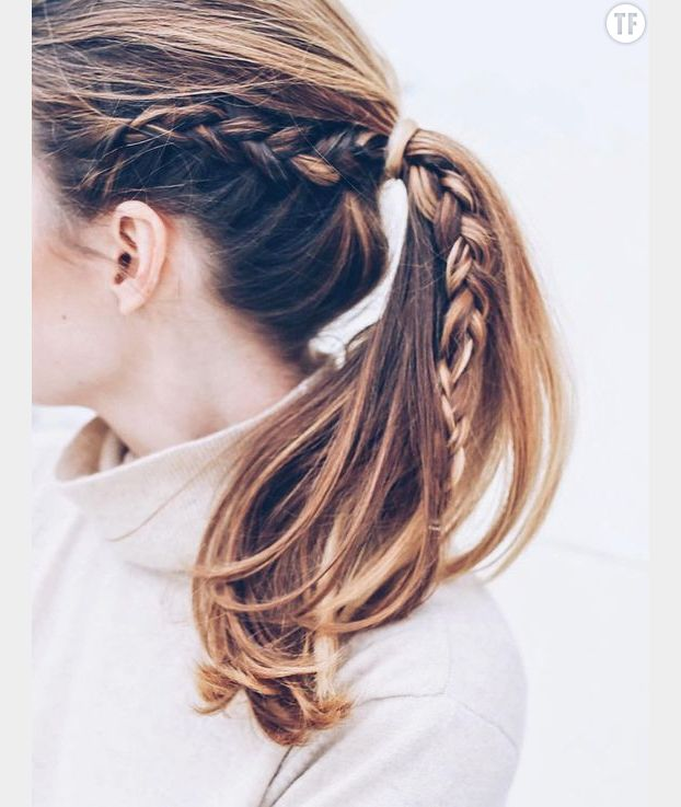 10 id es de coiffures faire en moins de 60 secondes terrafemina - Tresse queue de cheval ...