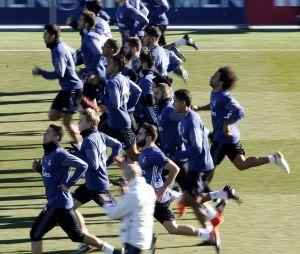 Le Real Madrid à l'entraînement en janvier 2017