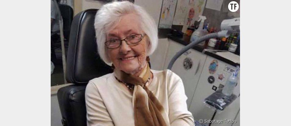 June Bright se fait tatouer à 82 ans