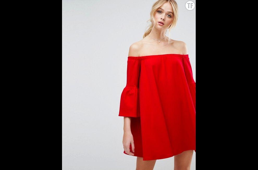 Robe épaules dénudées Asos, 43,99€
