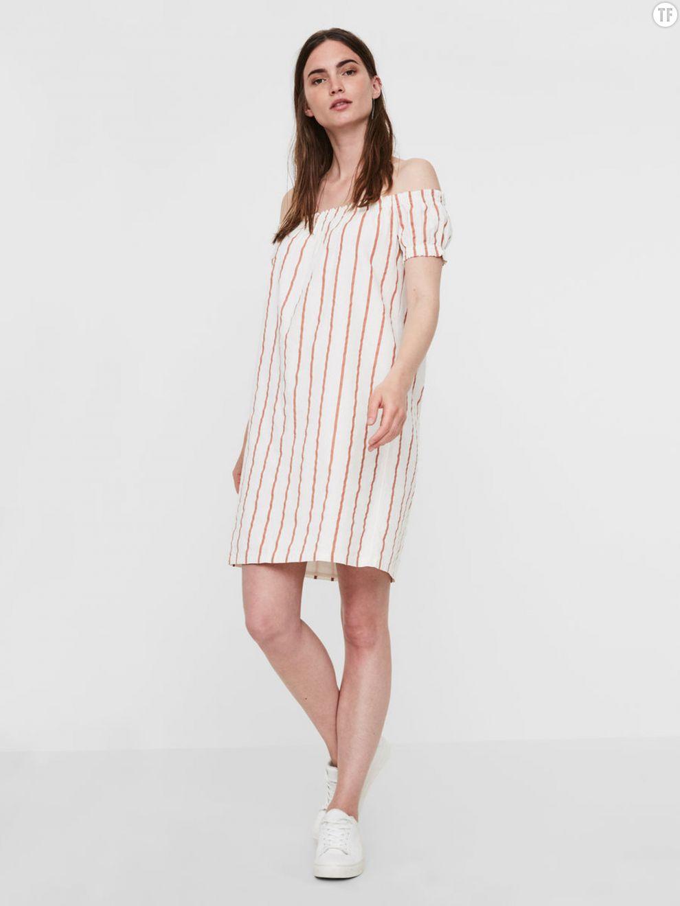Robe épaules dénudées Vero Moda, 29,99€