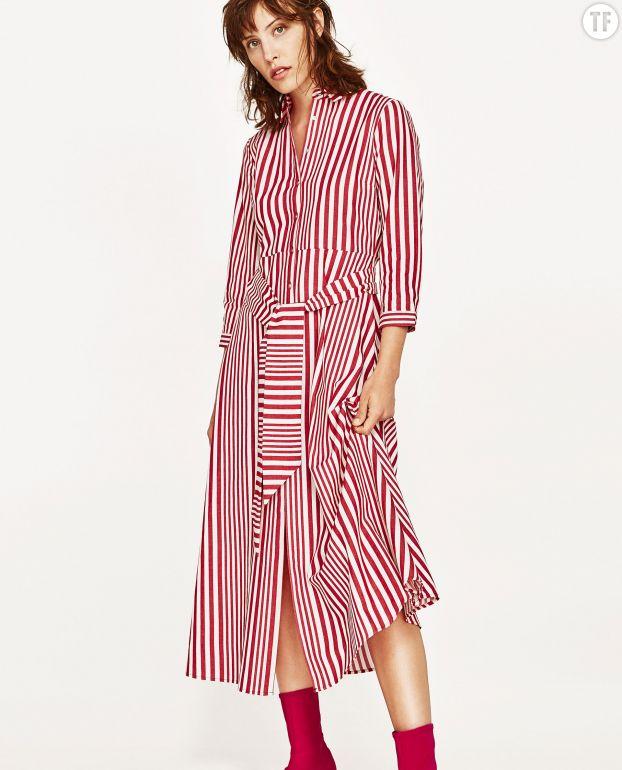 Robe à rayures Zara