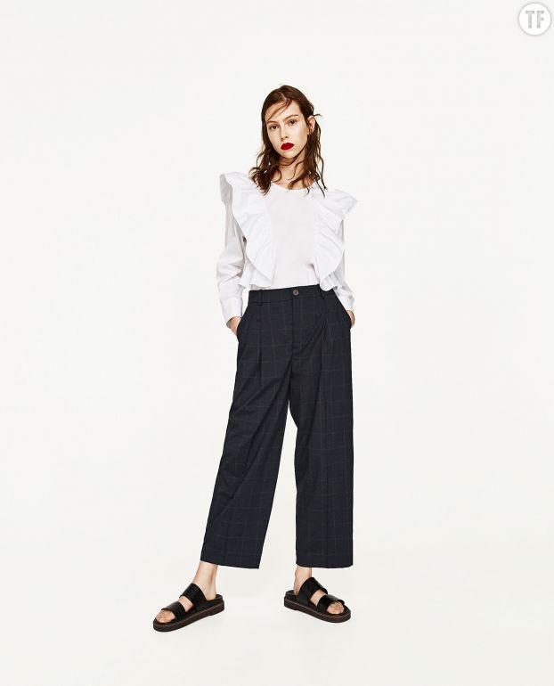 Pantalon large Zara