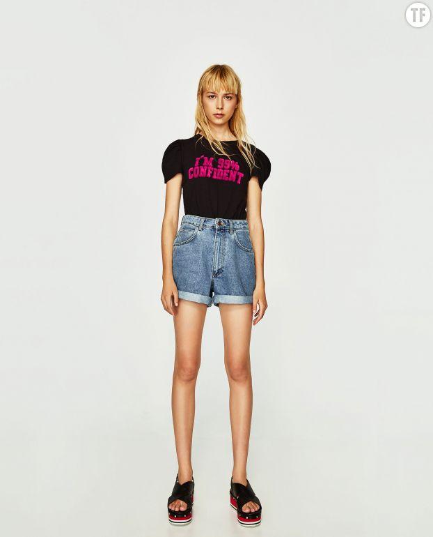 T-shirt à message Zara