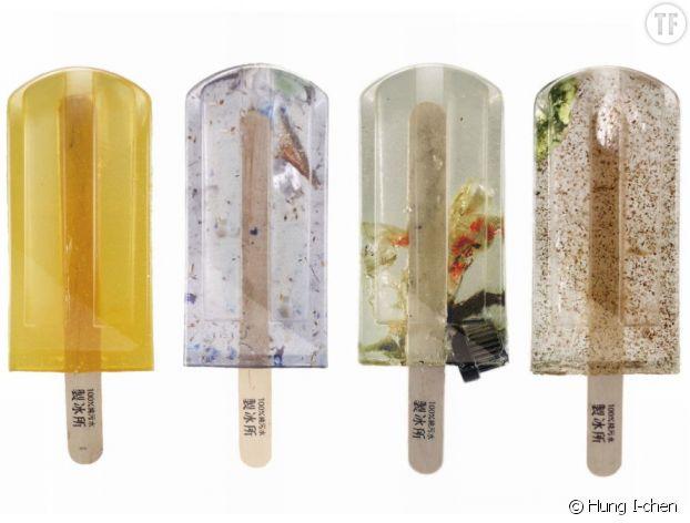 Les glaces aux eaux usées de Taïwan
