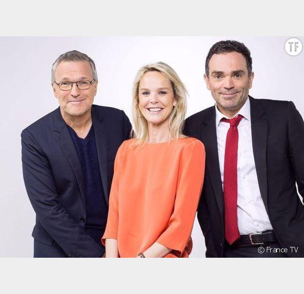 Laurent Ruquier, Yann Moix et Vanessa Burggraf