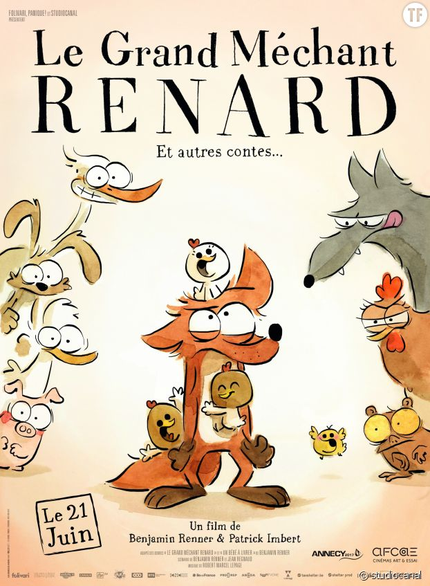 "Afiiche du film ""Le Grand Méchant Renard"""