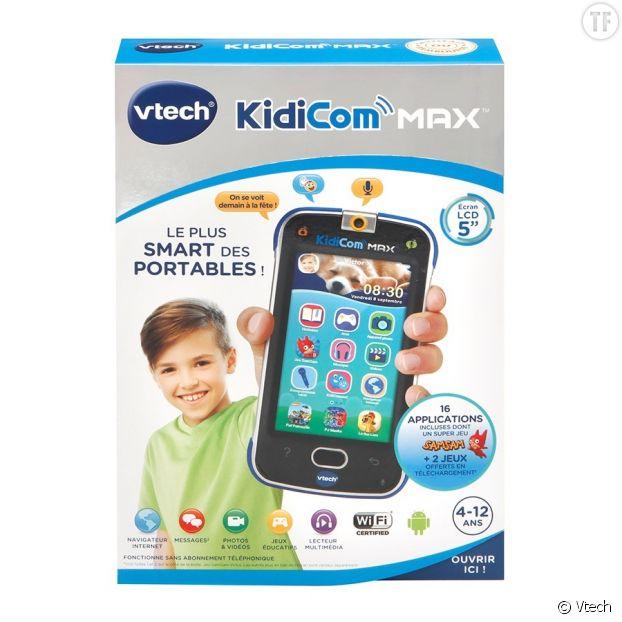 """Dans la ligne de mire des ONG, le """"Kidicom Max"""", un smartphone de la marque Vtech """"adapté aux 4-12 ans"""""""