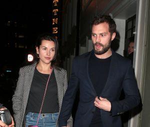 Jamie Dornan et sa femme Amelia Warner à Soho, à Londres, en janvier 2018