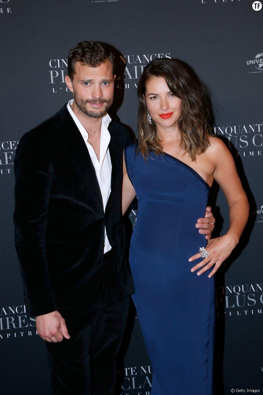 Jamie Dornan et sa femme Amelia Warner à la première de Fifty Shades Freed à Paris le 6 février 2018