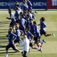 Le Real Madrid à l'entraînement