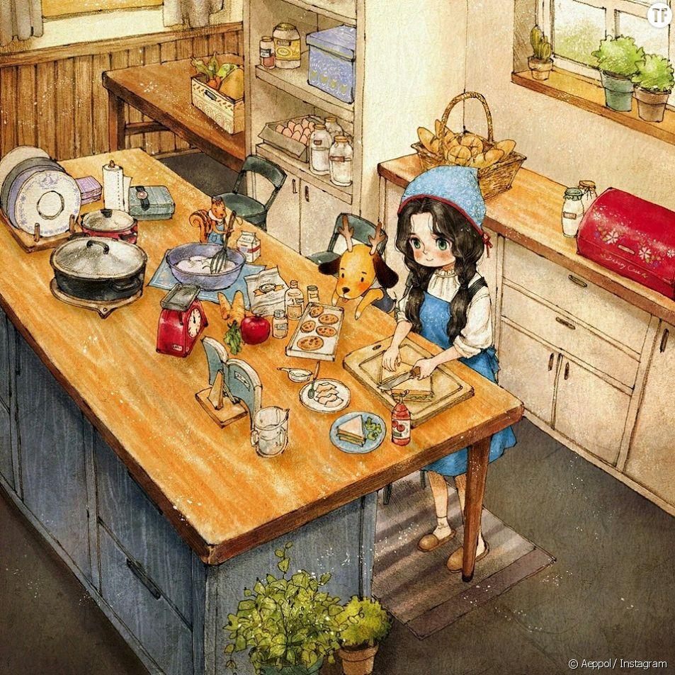 Le bonheur de vivre seule merveilleusement illustré
