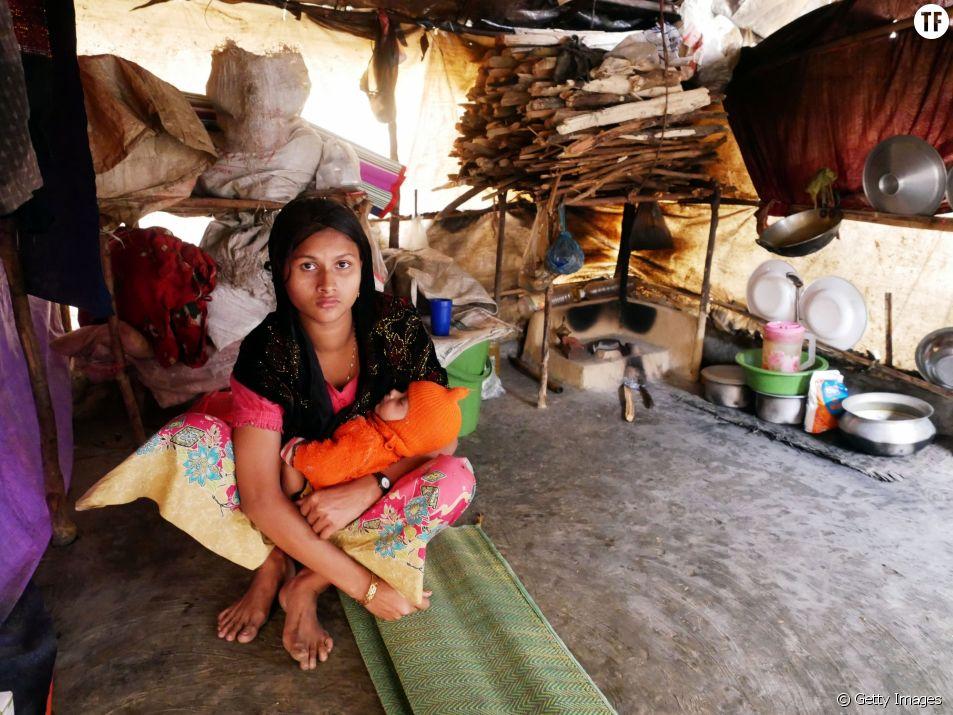 Une femme Rohingya dans un camp à Cox's Bazar, Bangladesh, janvier 2017.