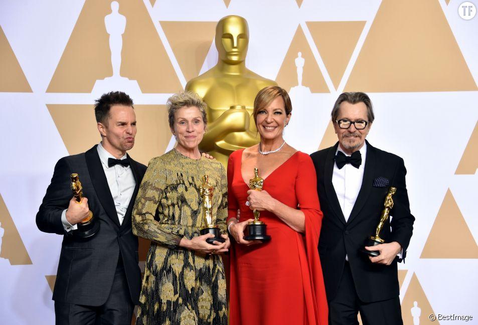 Oscars 2018 : Sam Rockwell, Frances McDormand, Allison Janney et Gary Oldman.
