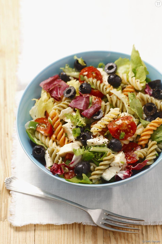 La recette de la salade de pâtes à la méditerranéenne