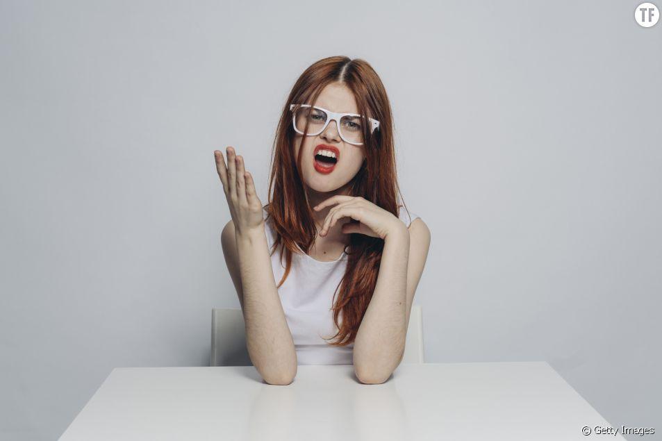 Femme énervée