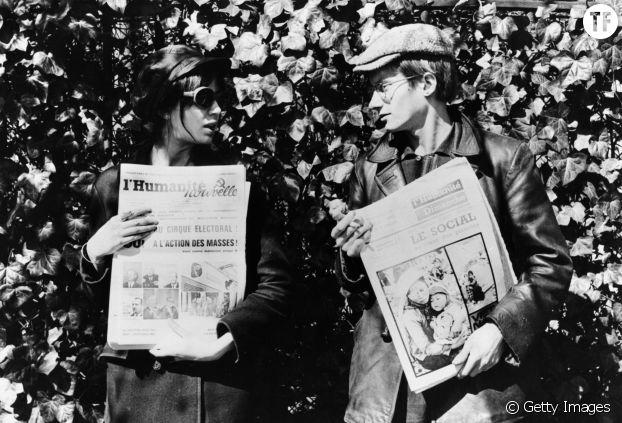 Juliet Berto dans le film de Jean-Luc Godard, La Chinoise, 1967.