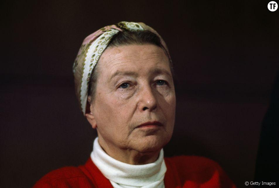 Simone de Beauvoir en 1968