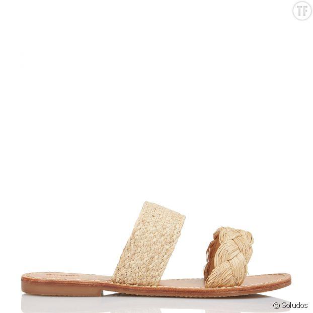 Sandales plates en raphia Soludos