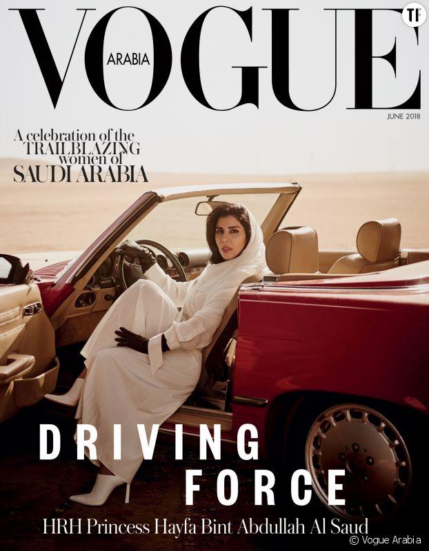 La couverture originale de Vogue Arabia de juin sur le droit des Saoudiennes à conduire