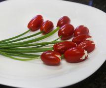 La recette des jolies tomates tulipes pour l'apéro